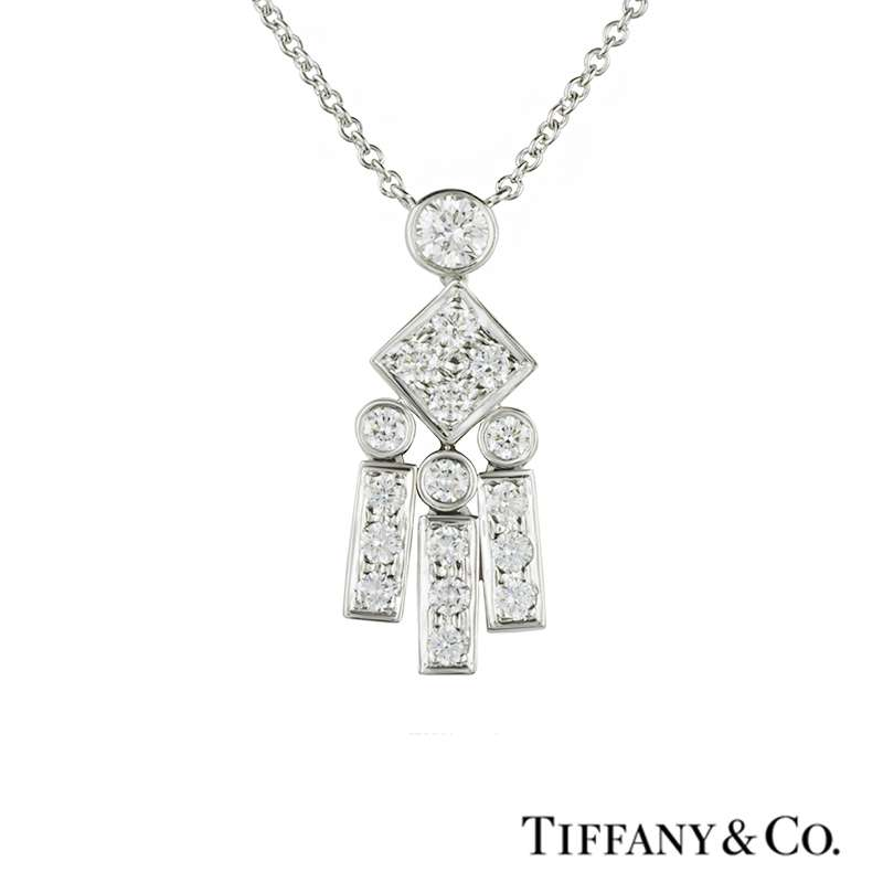 Tiffany & Co. Legacy Diamond Set Pendant in Platinum
